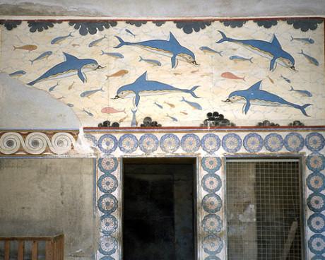 Dellfine-Wandbild in Knossos